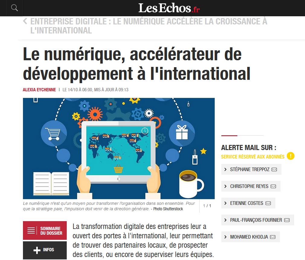 Le numérique, accélérateur de développement à l'international