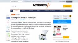 Article actionco.fr : Cassegrain ouvre sa eboutique