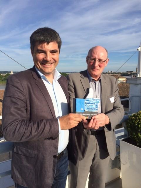Les lauréats : Frédéric Ventre  et Philippe Briffault